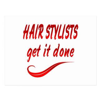 Cartão Postal Os cabeleireiros obtêm-no feito