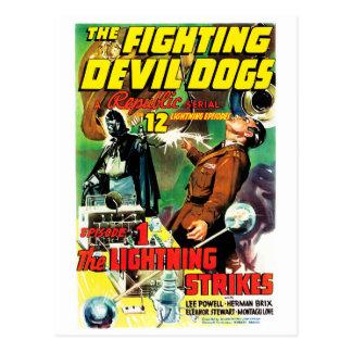 Cartão Postal Os cães de diabo de combate