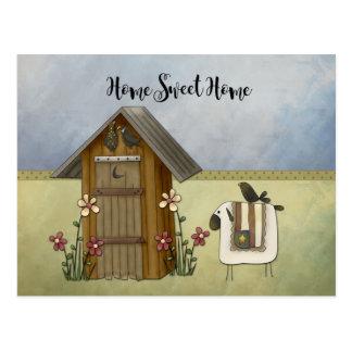 Cartão Postal Os carneiros primitivos da dependência dirigem o