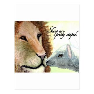 Cartão Postal Os carneiros são estúpidos bonito