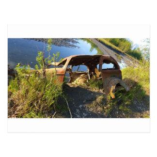 Cartão Postal Os carros velhos de Eklutna Tailrace