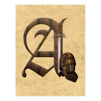 Cartão Postal Os cavaleiros oxidados rubricam A