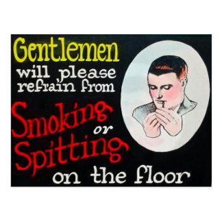 Cartão Postal Os cavalheiros abster-se-ão por favor do fumo