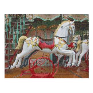 Cartão Postal Os cavalos vão circularmente