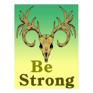 Cartão Postal Os cervos do crânio sejam citações fortes