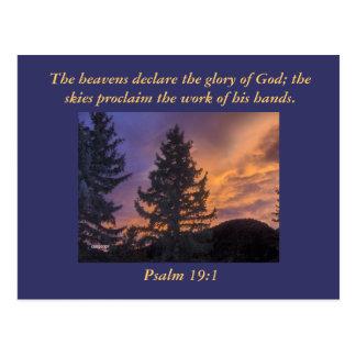 Cartão Postal Os céus declaram a glória do deus; …