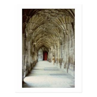 Cartão Postal Os claustros da catedral de Gloucester, 12o centur