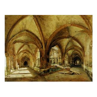 Cartão Postal Os claustros de St. Wandrille, c.1825-30