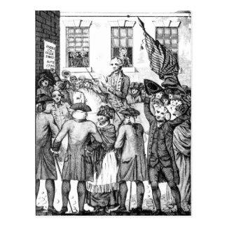 Cartão Postal Os colonos americanos declararam-se