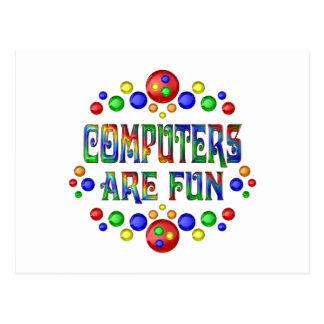 Cartão Postal Os computadores são divertimento