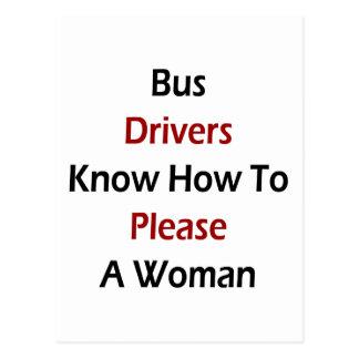 Cartão Postal Os condutores de autocarro sabem satisfazer uma
