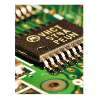Cartão Postal Os conselhos de circuitos dos chip de computador
