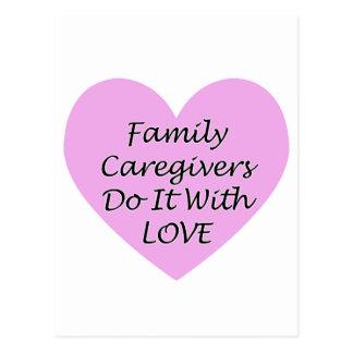 Cartão Postal Os cuidadors de família fazem-no com amor