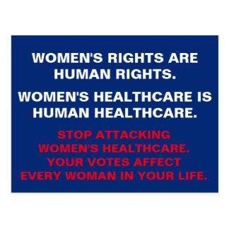 Cartão Postal Os cuidados médicos das mulheres são cuidados