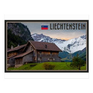 Cartão Postal Os cumes de Liechtenstein