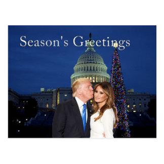 Cartão Postal Os cumprimentos da estação de Donald e de Melania