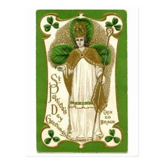 Cartão Postal Os cumprimentos Erin do dia de St Patrick do
