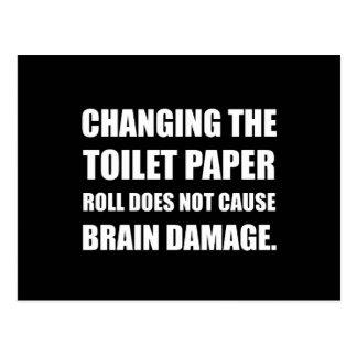 Cartão Postal Os danos cerebrais em mudança do rolo do papel