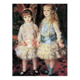 Cartão Postal Os d'Anvers de Cahen das meninas por Pierre Renoir