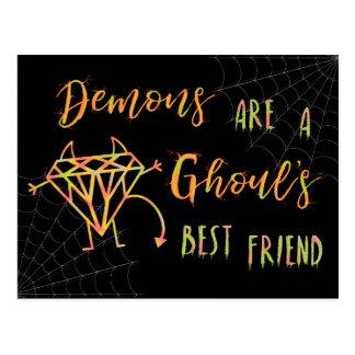 Cartão Postal Os demónios engraçados do Dia das Bruxas são um