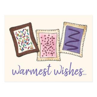 Cartão Postal Os desejos os mais mornos aquecem pastelarias do