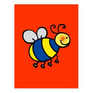 Cartão Postal Os desenhos animados bonitos bumble a abelha