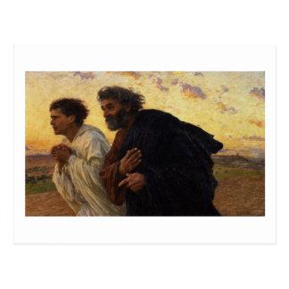 Cartão Postal Os discípulo Peter e corredor de John