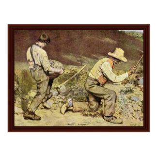 Cartão Postal Os disjuntores de pedra por Courbet Gustave