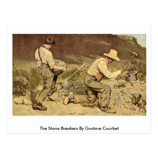Cartão Postal Os disjuntores de pedra por Gustave Courbet