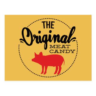 Cartão Postal Os doces originais da carne