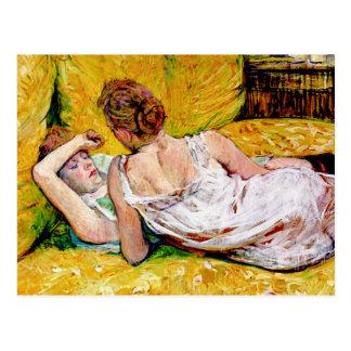 Cartão Postal Os dois amigos por Henri de Toulouse-Lautrec