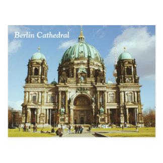 Cartão Postal Os DOM evangélicos alemães do berlinês da catedral