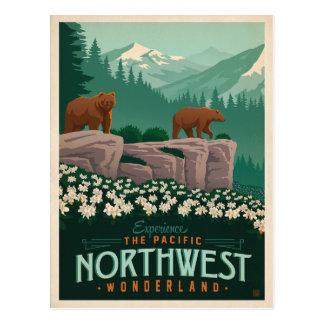 Cartão Postal Os Estados Unidos pacíficos do noroeste |