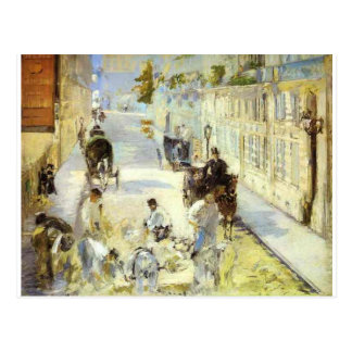 Cartão Postal Os estrada-cerzidores, rua de Berne por Edouard