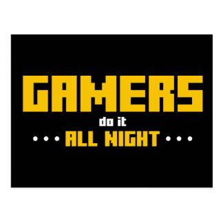 Cartão Postal Os Gamers fazem-no toda a noite