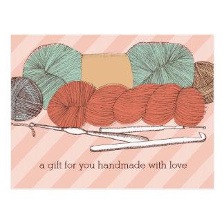 Cartão Postal os ganchos de crochet feitos sob encomenda dos