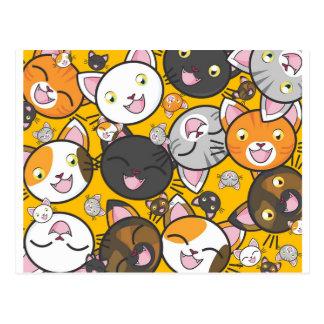Cartão Postal Os gatos de riso