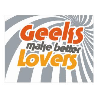 Cartão Postal Os geeks fazem melhores amantes