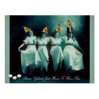 Cartão Postal Os Ghouls de Bunco apenas querem mandar o