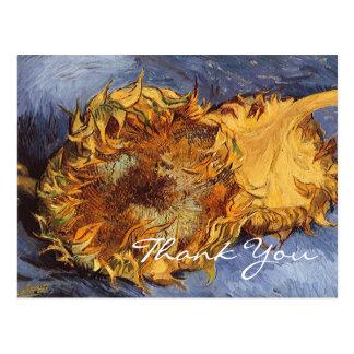 Cartão Postal Os girassóis cortados de Van Gogh 2
