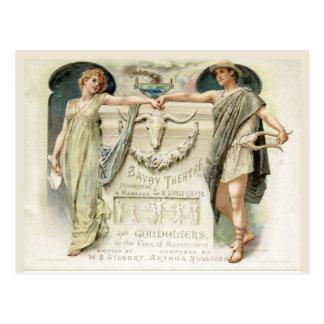 Cartão Postal Os Gondoliers