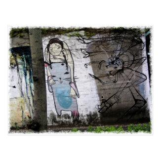 Cartão Postal Os grafites japoneses de Helaine