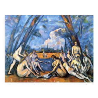Cartão Postal Os grandes Bathers por Paul Cezanne