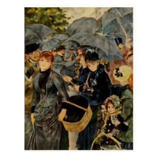 Cartão Postal Os guarda-chuvas de Pierre-Auguste Renoir (1883)
