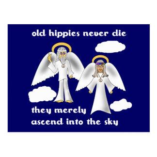 Cartão Postal Os hippys idosos nunca morrem