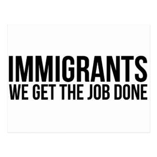 Cartão Postal Os imigrantes que nós obtemos o trabalho feito