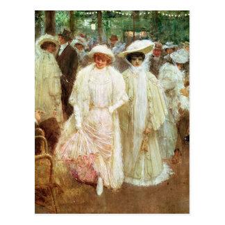 Cartão Postal Os jardins de Paris