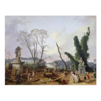 Cartão Postal Os jardins de Versalhes