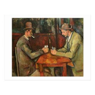 Cartão Postal Os jogadores de cartão, 1893-96