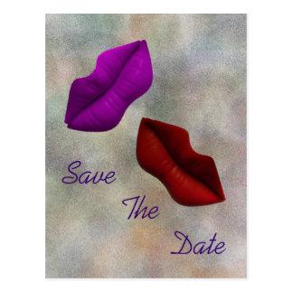 Cartão Postal Os lábios salvar a cerimónia do compromisso da